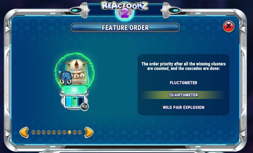 Reactoonz2のゲームフロー